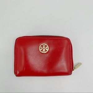 Tory Burch red small leather wallet